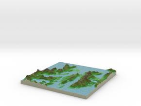 Terrafab generated model Fri Apr 18 2014 18:18:49  in Full Color Sandstone
