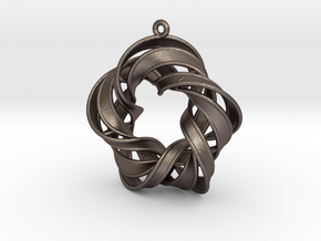 Rotating Star in Polished Bronzed Silver Steel