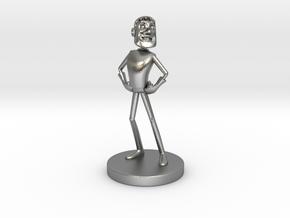 Johnny Blender 3 - JB3 - Full-Color Statue in Natural Silver