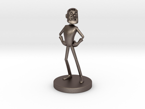Johnny Blender 3 - JB3 - Full-Color Statue in Polished Bronzed Silver Steel