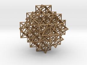 Escher's solids filling space in Natural Brass