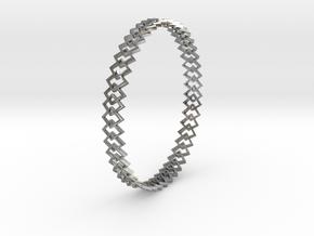 Square Bracelet in Natural Silver