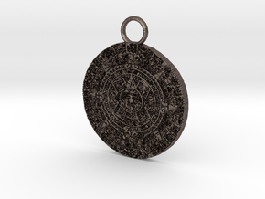 mayan pendant 3c5 thin2 in Stainless Steel