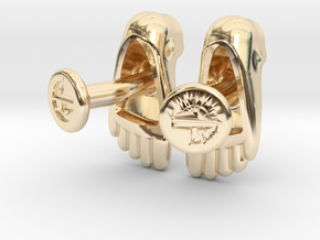 Feet Cufflinks in 14K Yellow Gold