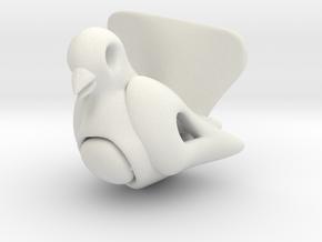 Bird Hanger Small in White Natural Versatile Plastic