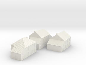 1/350 Village Houses 2 in White Natural Versatile Plastic