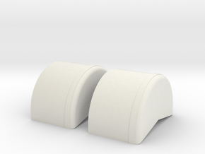 1/43rd 40 inch wheel tubs in White Natural Versatile Plastic