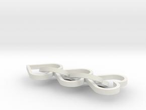 Heart Earings in White Natural Versatile Plastic