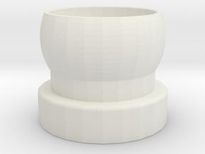 """end cap 1/4""""-20 for 3/4"""" Loc-line in White Natural Versatile Plastic"""