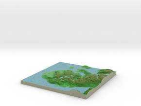 Terrafab generated model Fri Apr 25 2014 15:51:58  in Full Color Sandstone