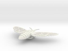 Death's-head Hawkmoth in White Natural Versatile Plastic