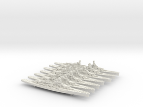 1/1800 WW2 Italian Navy Heavy Cruisers in White Natural Versatile Plastic