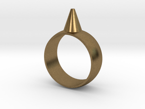 223-Designs Bullet Button Ring Size 7 in Natural Bronze