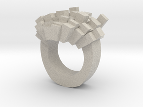 8bit-ring-hollow in Natural Sandstone