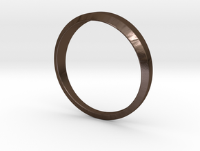 Women's Simple Life Ring in Polished Bronze Steel