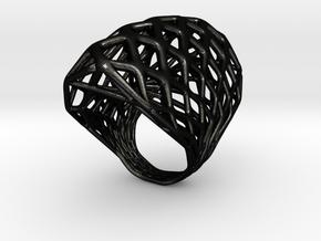 Ring 002 in Matte Black Steel