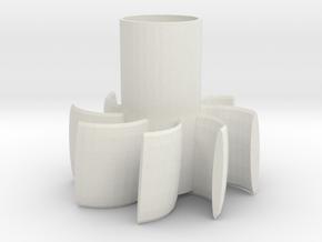 Parabellum Rocket Fin Can in White Natural Versatile Plastic