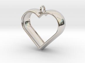 Stylized Heart Pendant in Platinum