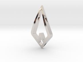 HIDDEN HEART Airy, Pendant. Sharp Chic in Platinum