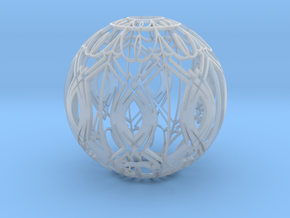 Lampshade (Designer Sphere 3 3mm Thick) in Smooth Fine Detail Plastic