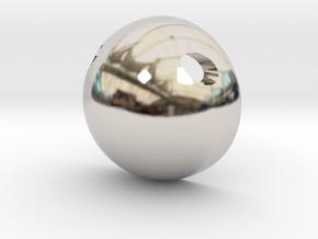 Half Sphere Pendant in Platinum