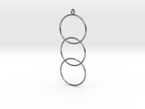 Interlaced Circles v2 in Fine Detail Polished Silver