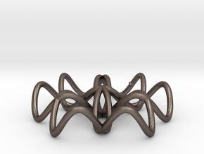 brochem in Polished Bronzed Silver Steel