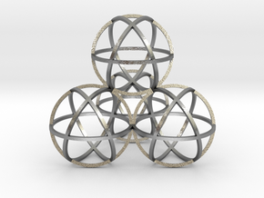 Sphere Tetrahedron in Natural Silver