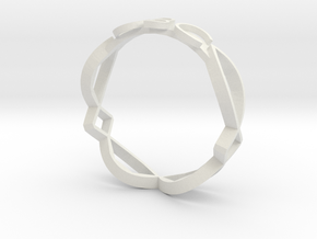 Ichthus Fish Ring in White Natural Versatile Plastic