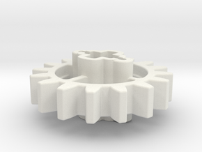 16z Angled Cross in White Natural Versatile Plastic