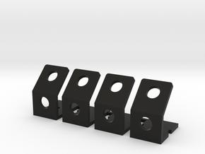 Quadcopter LED Running Light Bracket v3 - Foursome in Black Natural Versatile Plastic