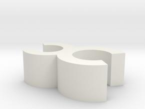clip v3 in White Natural Versatile Plastic