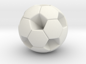 Soccer Ball (White Hexagon Body) in White Natural Versatile Plastic