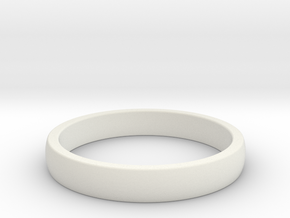ID Ring in White Natural Versatile Plastic