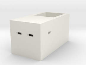 Type 23 Pillbox 4mm Scale in White Natural Versatile Plastic