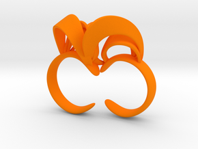 Ribbon Double Ring 8/9 in Orange Strong & Flexible Polished