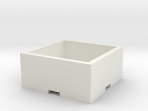 Plant Pot 15x15x6 cm / 5,90x5,90x2,36 in in White Natural Versatile Plastic