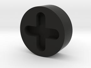 C3PO Side and Shorts Screw Cap V1 HOLLOW in Black Natural Versatile Plastic