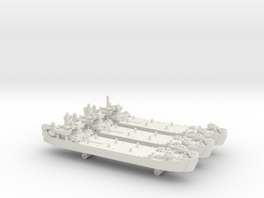 1/1800 US LST Mk2 (x3) in White Strong & Flexible