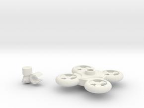 Quadcopter in White Natural Versatile Plastic