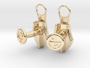 Zipper Cufflinks in 14K Yellow Gold