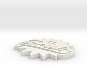 The Soup Logo in White Natural Versatile Plastic