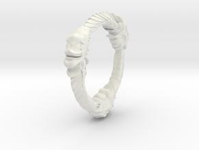 TripleOurouboros Lion Pendant in White Natural Versatile Plastic