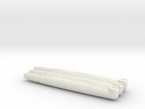 HTRD ARM BLASTERS in White Natural Versatile Plastic