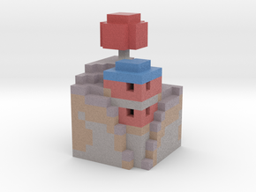 mushroom house in Full Color Sandstone