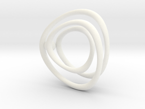 Single Wire Track with Ball in White Processed Versatile Plastic