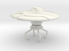 ufo 009 in White Natural Versatile Plastic