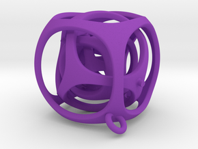 Gyro the Cube (S) (Ring + Smooth) in Purple Strong & Flexible Polished