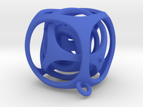 Gyro the Cube (S) (Ring + Smooth) in Blue Strong & Flexible Polished