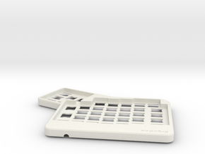 ErgoDox Top Left Case in White Strong & Flexible